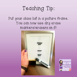 Teaching Tip - Picture Frames in Your Classroom