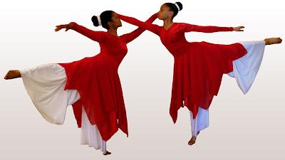 Modelos de roupas para coreografia (roupas de dança gospel)