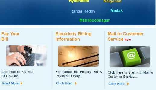 TSSPDCL Online Bill Payment Methods ~ TSSPDCL Electricity Bill Payment