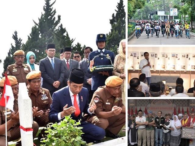 Kunjungan Presiden ke Bandung, dari Ziarah Sampai Keliling Naik Motor