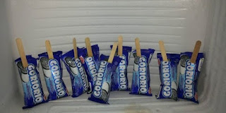 Cara membuat es biskuti goririo tanpa susu