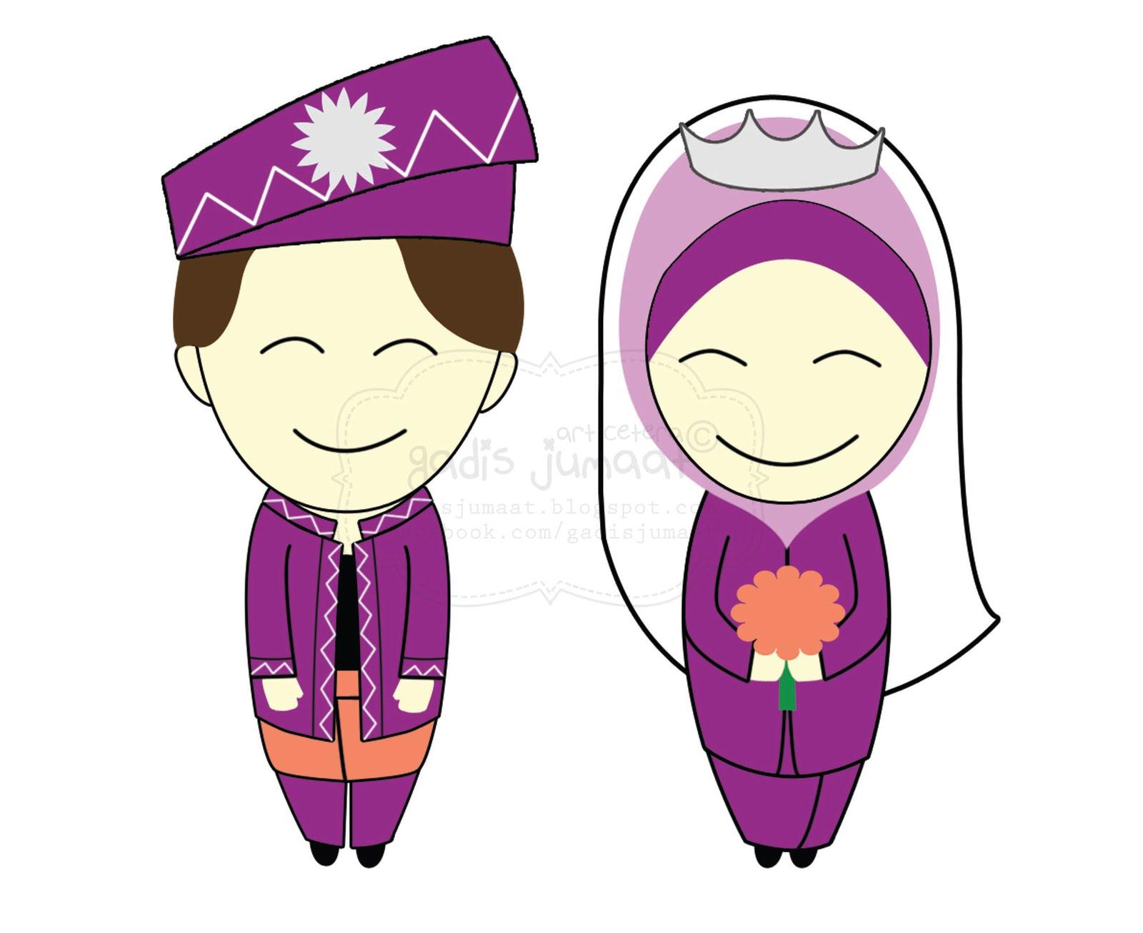 Gambar Kumpulan Vector Kartun Muslim Format Cdr Tempatnya Download