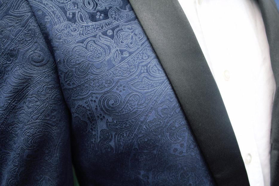 Paisley dinner jacket pattern