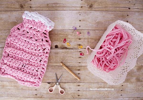 How To crochet a hot water bottle Free Crochet Pattern with Zpagetti Yarn!
