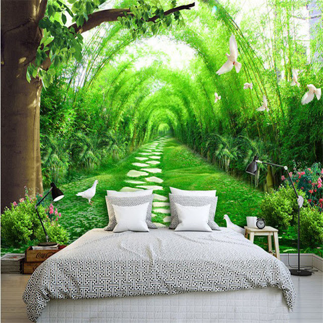 Garden wall murals 3D wallpaper living room bedroom Flower Garden green plants photo wallpaper
