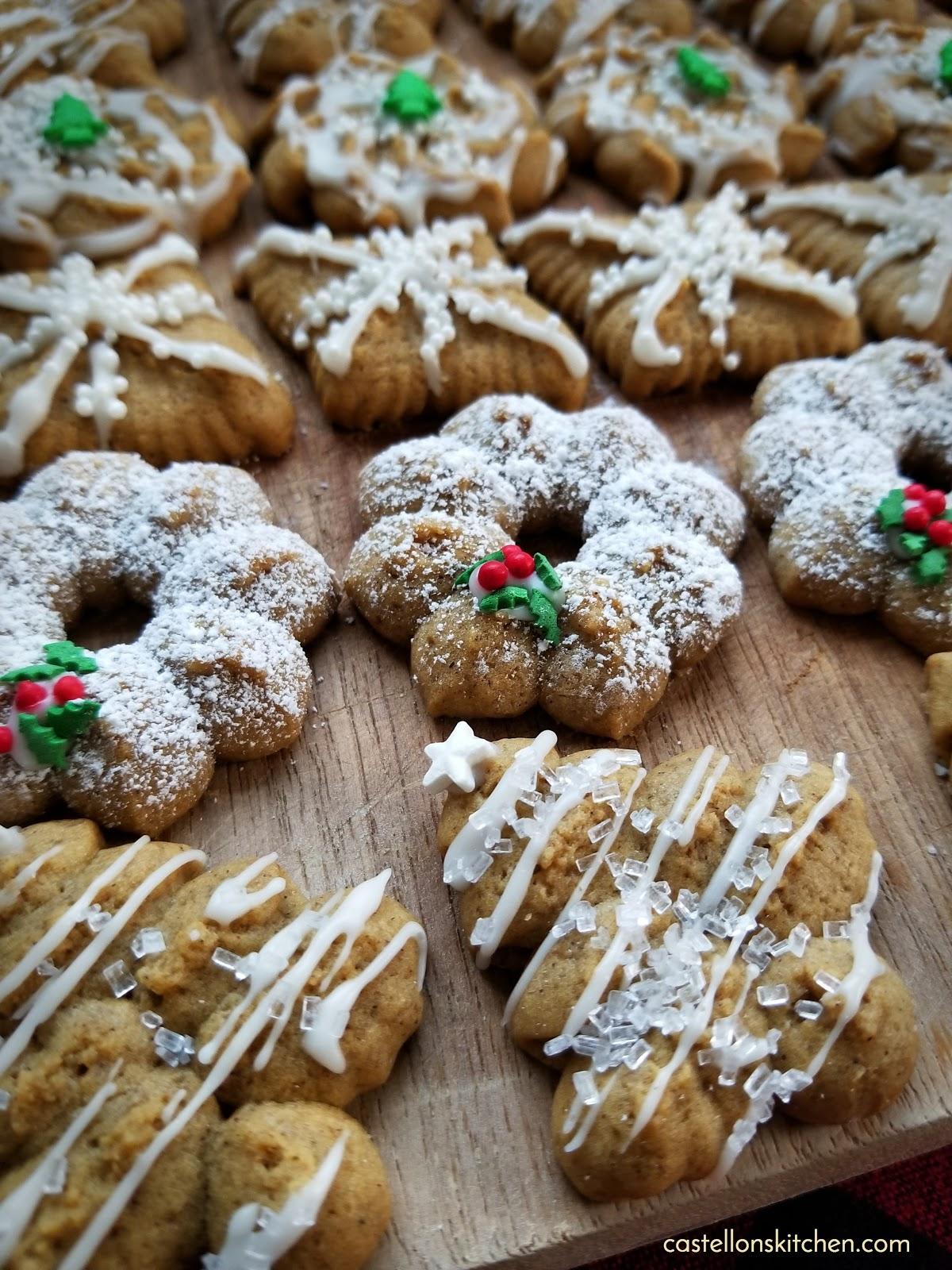 Castellon S Kitchen Gingerbread Spritz Cookies