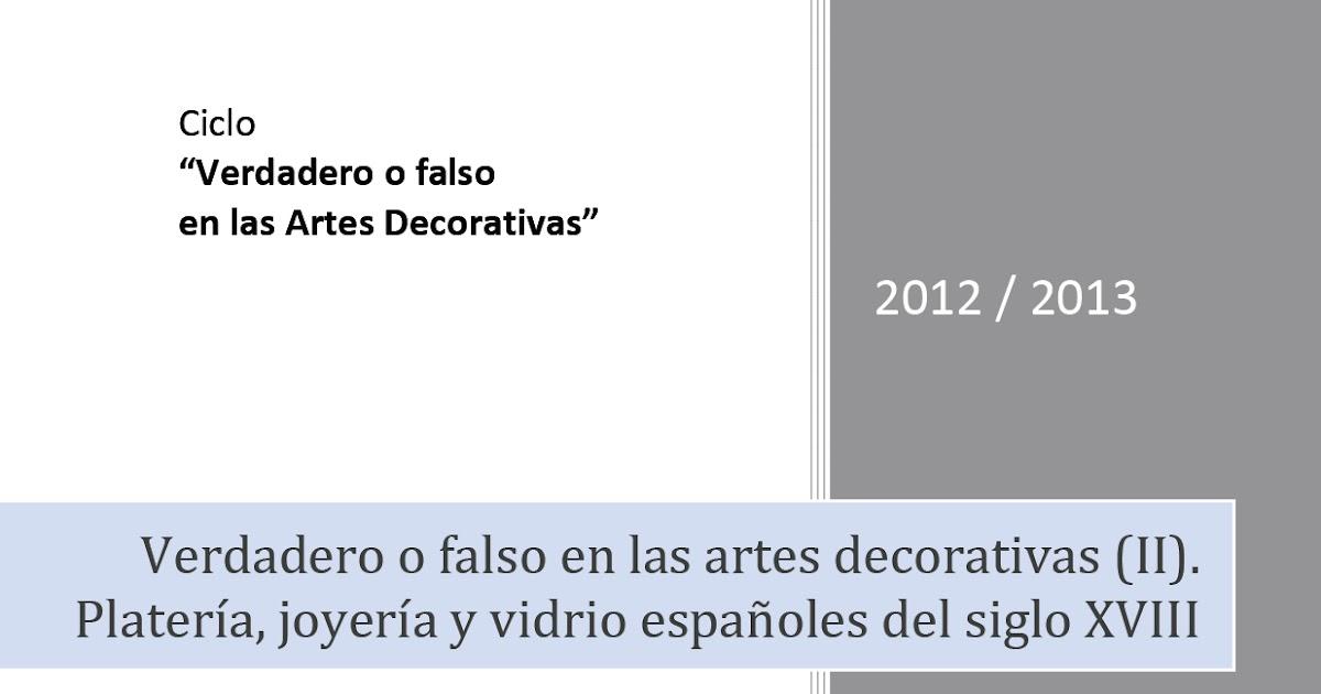 Curso Artes Decorativas Y Dise Ef Bf Bdo En Las Oposiciones A Conservadores