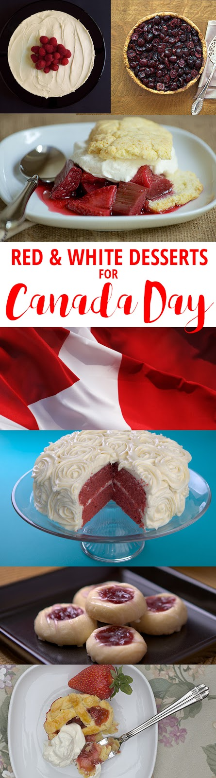 Red & White Recipes for Canada Day