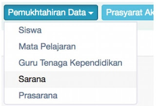 menu Pemutakhiran Data
