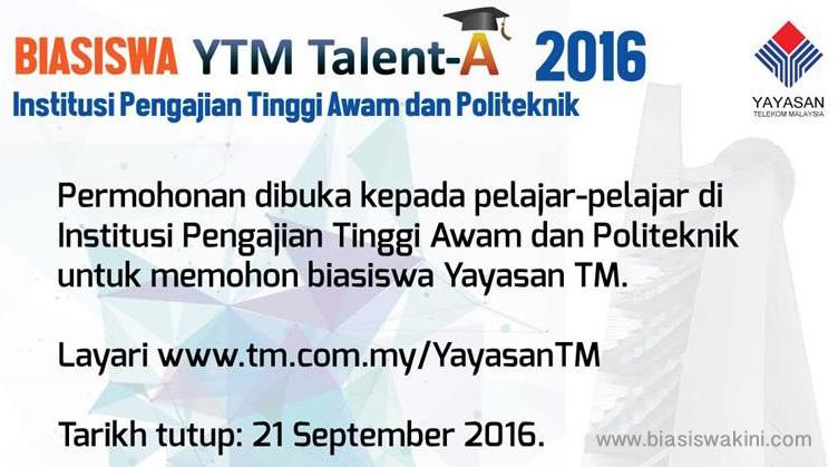 Biasiswa Yayasan TM 2016