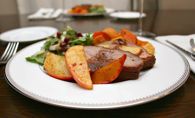 pork tenderloin with apples and port