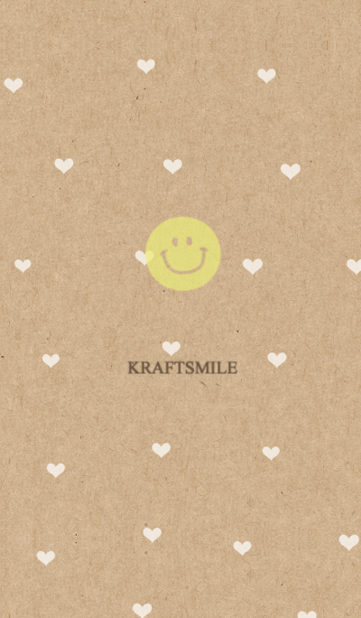 Kraftpaper and heart smile