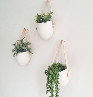 Leather Porcelain Wall Planter