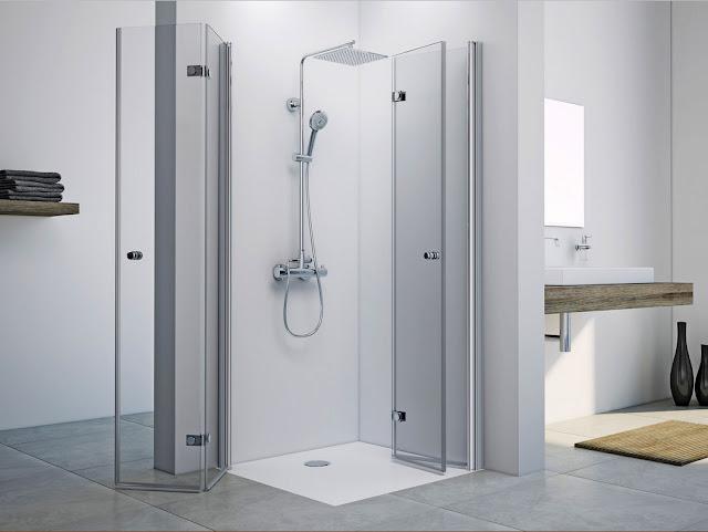 Glas-falttür-duschkabine-eckeinstieg-modern-Design