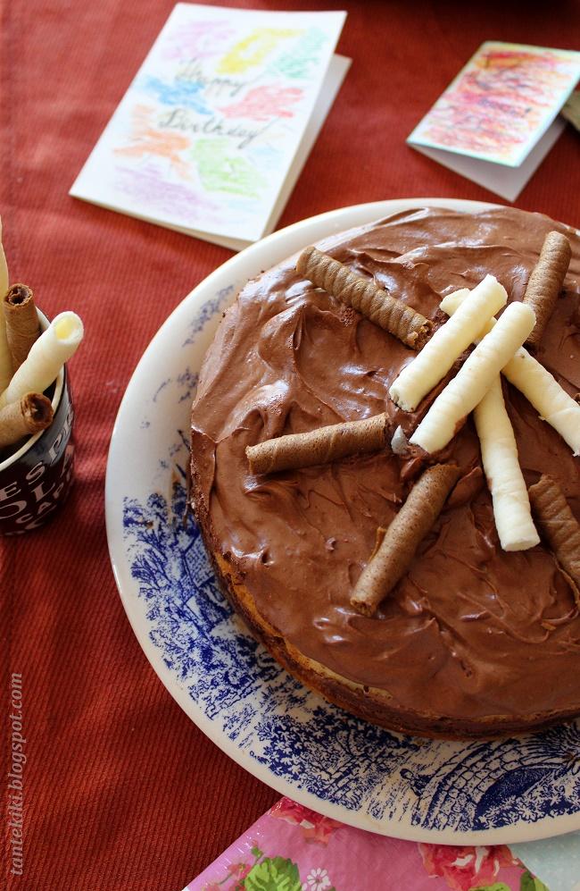 Τούρτα mousse bitter σοκολάτας