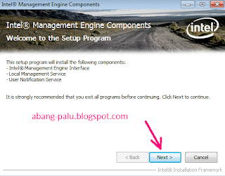 instal driver intel management engine di laptop