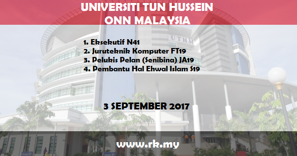Jawatan Kosong di Universiti Tun Hussein Onn Malaysia