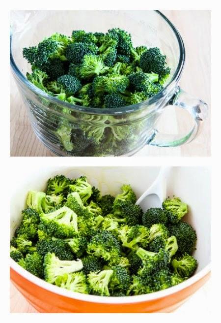 Easy Roasted Broccoli Recipe with Lemon and Pecorino-Romano Cheese (Low-Carb, Gluten-Free) found on KalynsKitchen.com