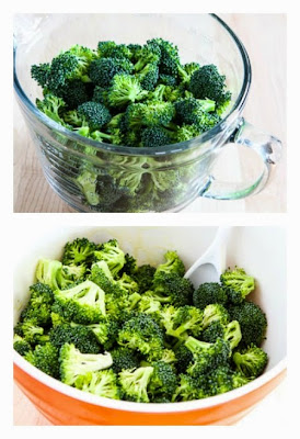 Easy Roasted Broccoli Recipe with Lemon and Pecorino-Romano Cheese (Low-Carb, Gluten-Free) found on KalynsKitchen.com