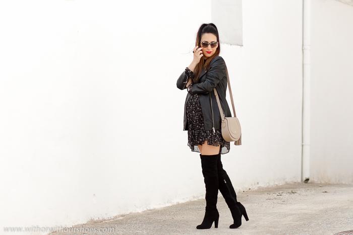 Influencer Blogger con ideas de looks para vestir durante el embarazo con ropa de zara