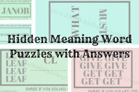 Hidden Meaning Word Puzzles with Answers