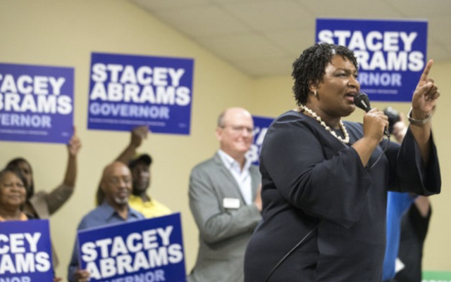 Stacey Abrams Claims Poll Worker Stopped Her from Voting
