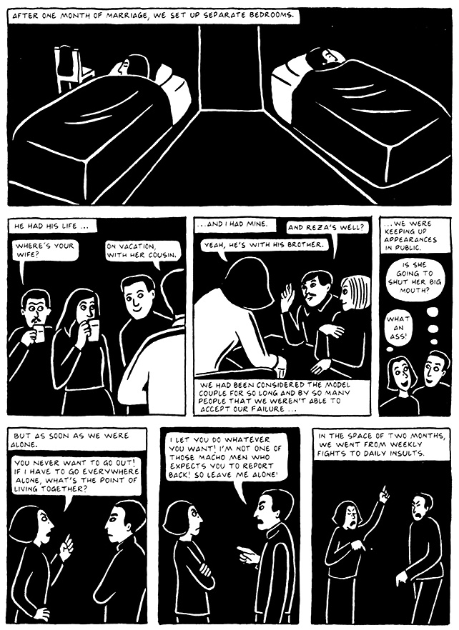 Read Chapter 17 - The Wedding, page 165, from Marjane Satrapi's Persepolis 2 - The Story of a Return