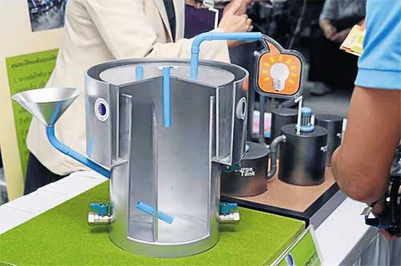 Top Energy Blog: A cross-section model of the patented mini biogas #XM_44