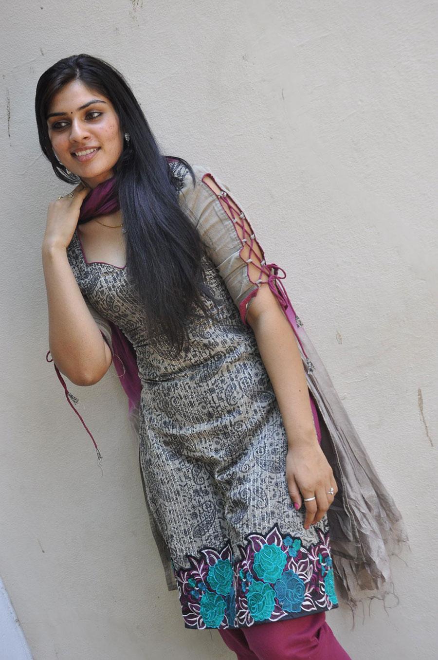 Rudhiram heroine fair lovely cute  deepsika photos in salwar kameez  at movie press meet looking gorgeous