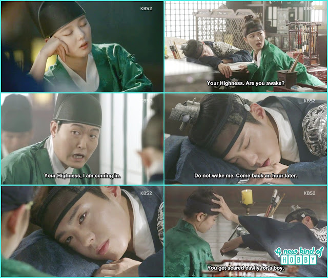 ra on sleep in Crown Prince room  - Love in The Moonlight - Episode 4 Review