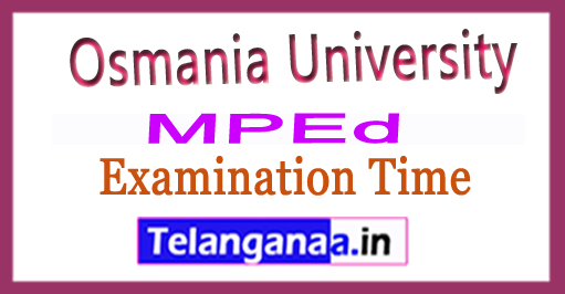 OU MPEd 2nd year 3rd Sem Examination Time Table 2018 Osmania University