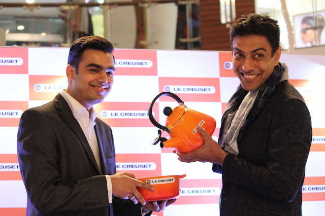 Ankur Damani India and Saarc Country head at le Creuset with Chef Ranveer Brar-min