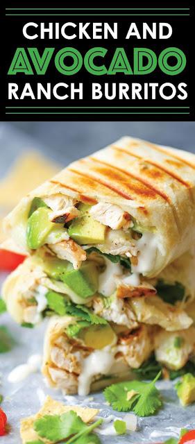 Chicken Together With Avocado Ranch Burritos Recipe