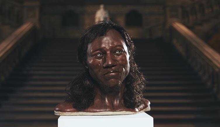 Reconstrucción facial de Cheddar Man. Tom Barnes/Channel 4