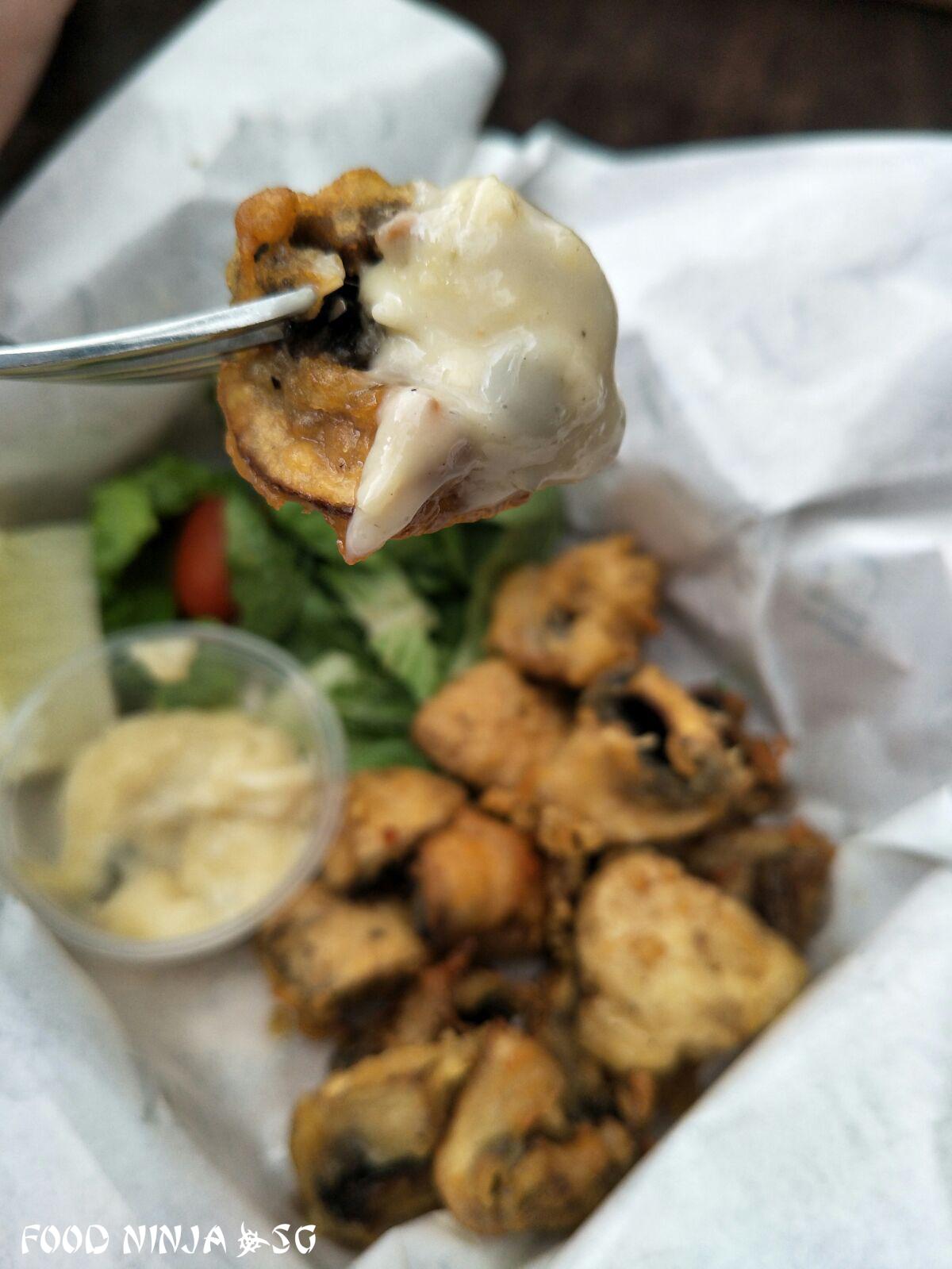 Fast Food Restaurant With Deep Fried Mushrooms