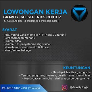 Lowongan Kerja Trainer di Gravity Calisthebics Center Jogja