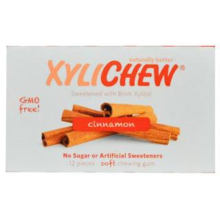 لبان بنكهة القرفة   Xylichew Gum, Sweetened with Birch Xylitol, Cinnamon, 12 Pieces