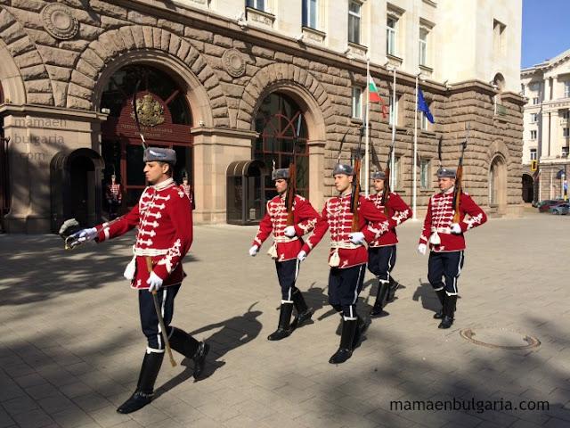 Cambio de Guardia del Palacio Presidencial, Sofía, Bulgaria