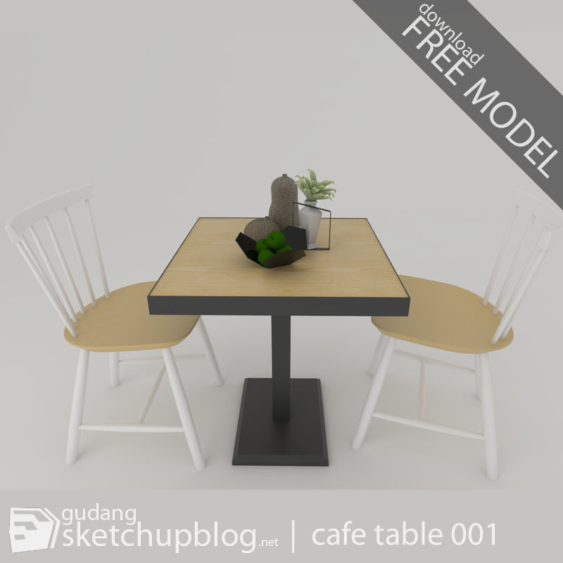 Free sketchup component - cafe table | 001 - gudang