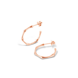 Dinny Hall is the place to shop for timeless classic hoops. I especially love these 22ct rose gold vermeil bamboo hoops as they are very unique to other designers and the bamboo is a simple of longevity.