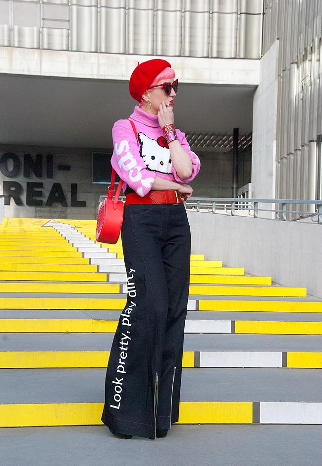swissfashionblogger, hello kitty, gcds streetwear