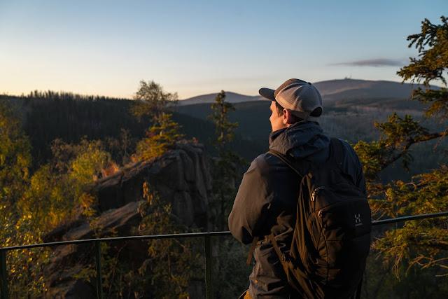 Sonnenaufgang an der Rabenklippe  Luchsgehege und Eckerstausee  Wandern in Bad Harzburg 04