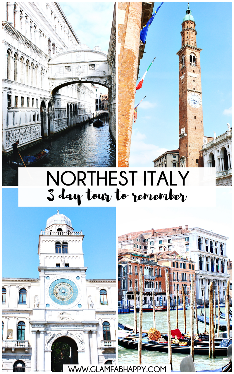 NORTHEAST ITALY 3 day tour to remember, travel guide and travel tips what to visit and see