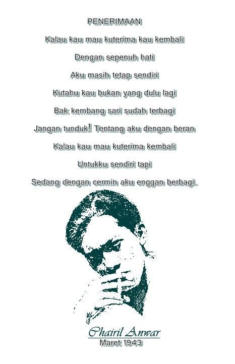Puisi Cinta Tanah Air Chairil Anwar Archidev