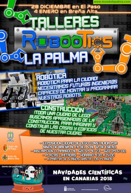 El Paso y Breña Alta acogen talleres infantiles de robótica educativa en los que se crearán ciudades con más de 25.000 piezas de Lego