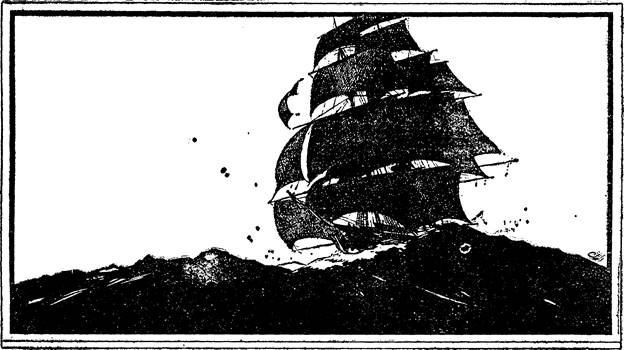 Illustration for Adventure, May 15 1933 - In the Tradition by Albert Richard Wetjen