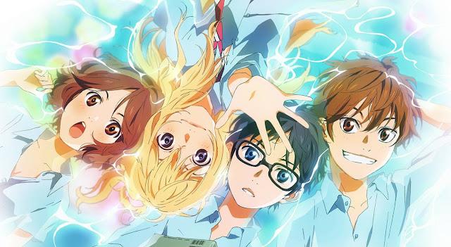 Bohaterowie anime Shigatsu wa Kimi no Uso