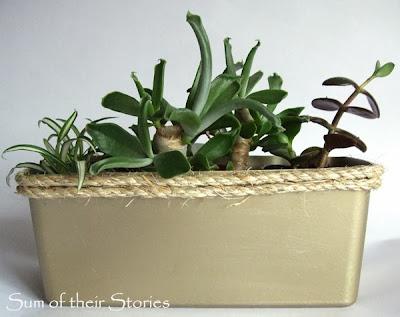 Plastic tub to Pretty Planter