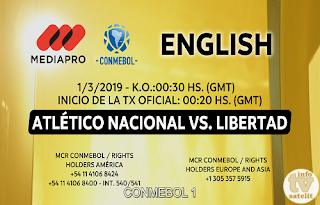 Copa Libertadores Qualification AsiaSat 5 Biss Key 1 March 2019