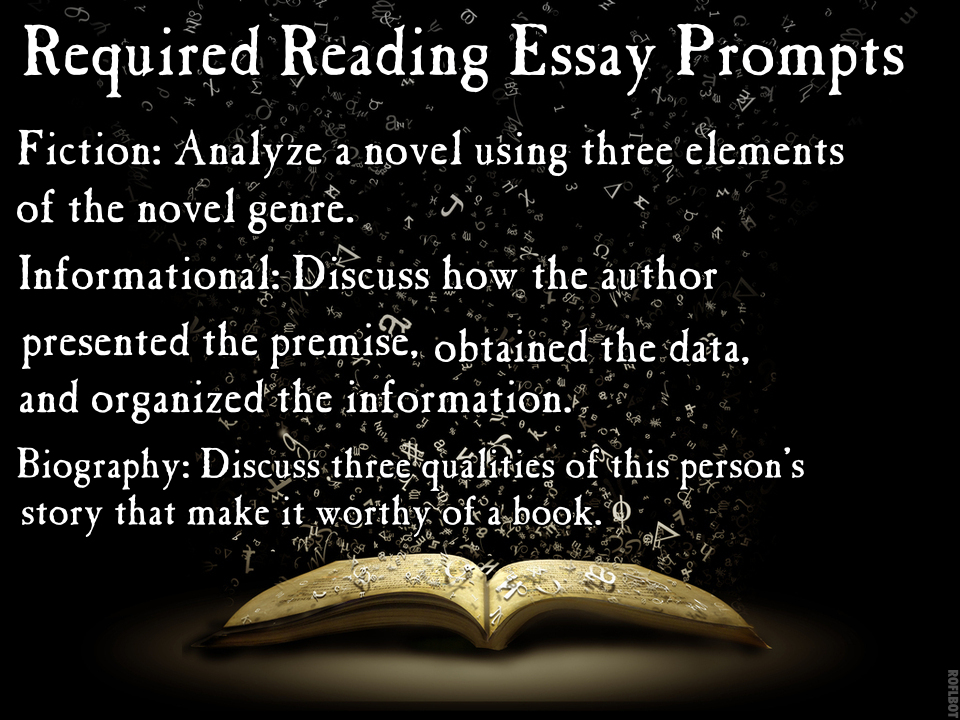 MzT's Classroom: Required Reading Essay Prompts
